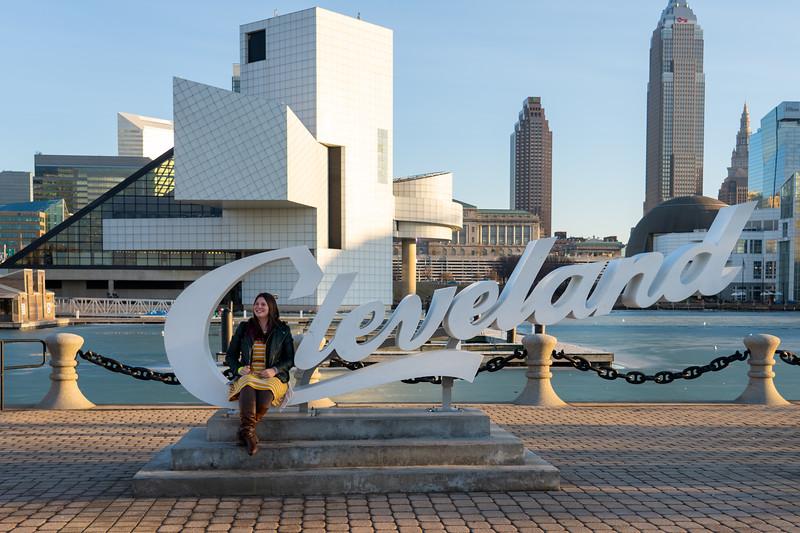 Amanda at Cleveland script sign