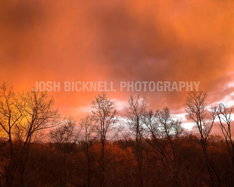 Fiery Winter Sky