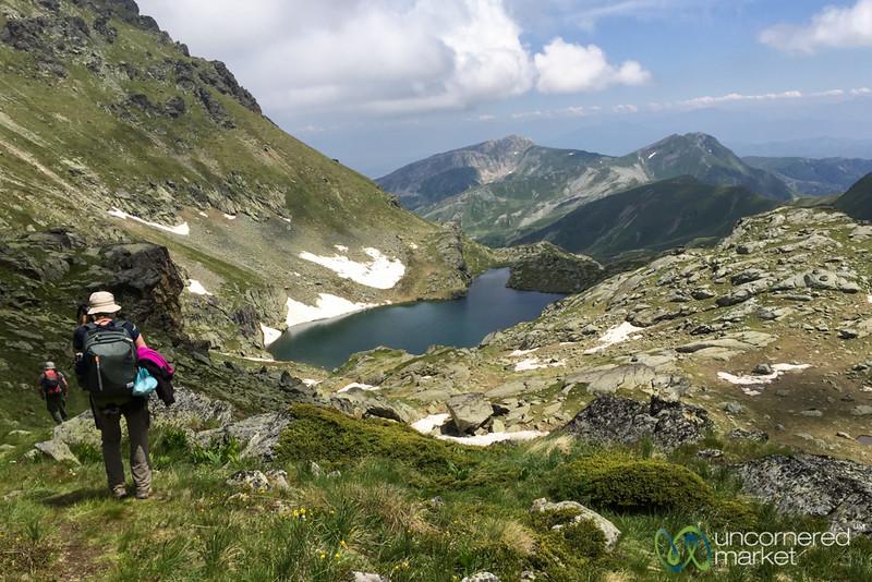 Walking Down from Mt. Gjeravica, Kosovo