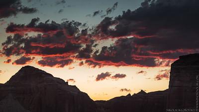 Face Canyon Sunset