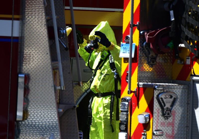 9/5/2018 Mike Orazzi   Staff Emergency crews are investigating the report of a local bank employee finding white powder in an envelope. Police, firefighters and ambulance crews at the First Bristol Federal Credit Union on North Street.