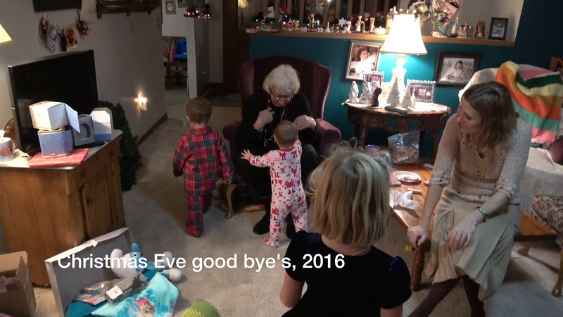 Christmas Eve good byes, 2016