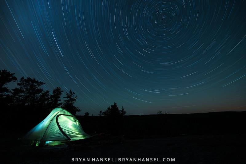 Star Trails on Pincushion Mountain