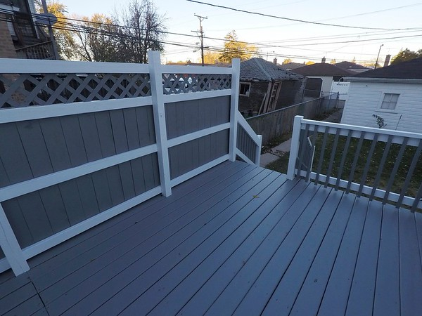 Grey and white Deck
