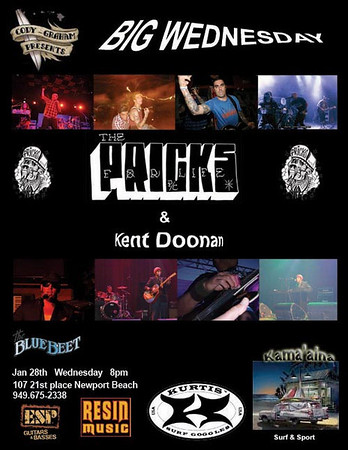 Big Wednesday - The Pricks & Kent Doonan at The Blue Beet 012809