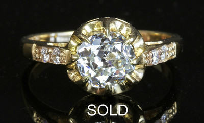 .90ct in 18K Victorian Belcher Setting