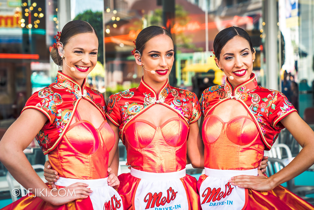 Universal Studios Singapore Park Update February 2018 Chinese New Year - Mel's Dim Sum Dinettes before the show