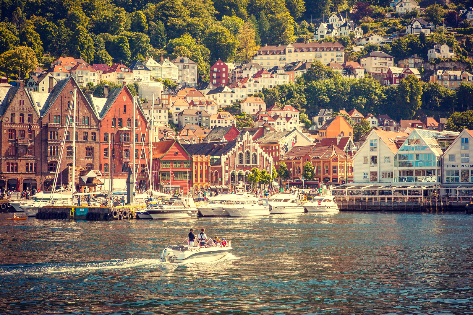 挪威卑尔根市,城市的明信片