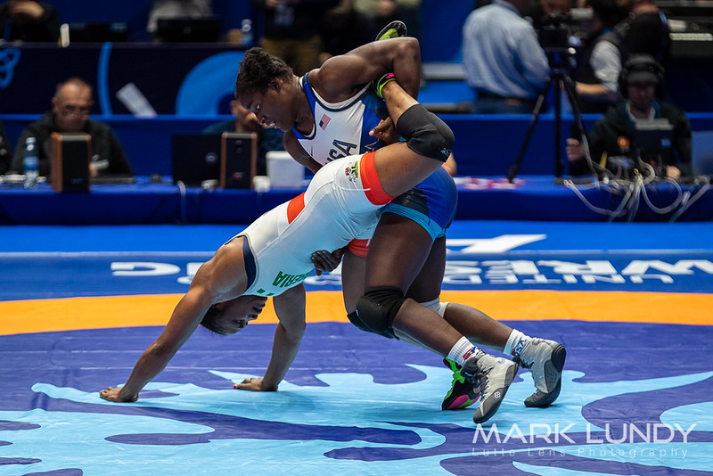 Champ. Round 2: Tamyra Mariama Mensah (United States) over Blessing Oborududu (Nigeria)  •  Dec 6-1 - 2019 World Championships