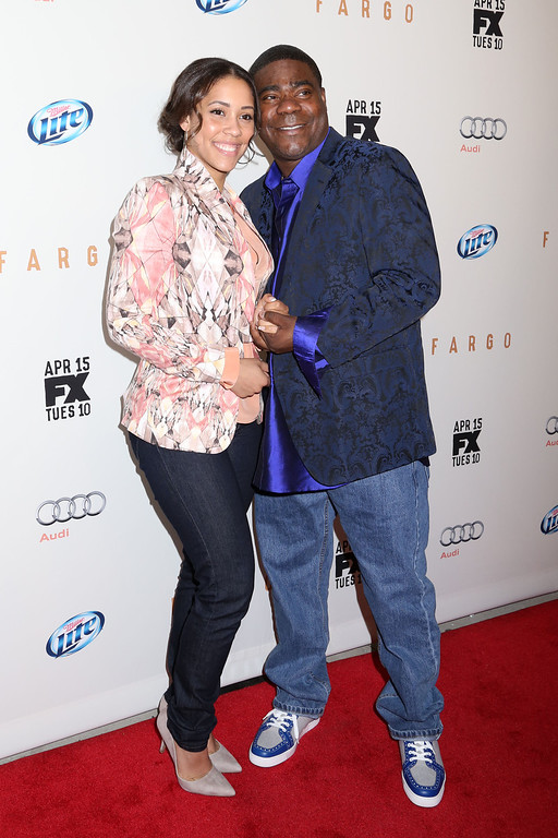 """. Tracy Morgan and Megan Wollover attend the FX Networks Upfront premiere screening of \""""Fargo\"""" at the SVA Theater on Wednesday, April 9, 2014 in New York. (Photo by Greg Allen/Invision/AP)"""