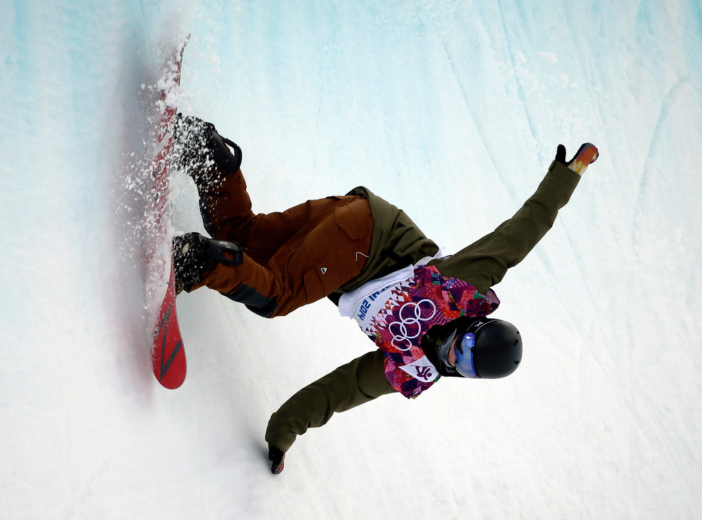 . Switzerland\'s David Habluetzel competes during the men\'s snowboard halfpipe qualifying at the Rosa Khutor Extreme Park, at the 2014 Winter Olympics, Tuesday, Feb. 11, 2014, in Krasnaya Polyana, Russia. (AP Photo/Jae C. Hong)