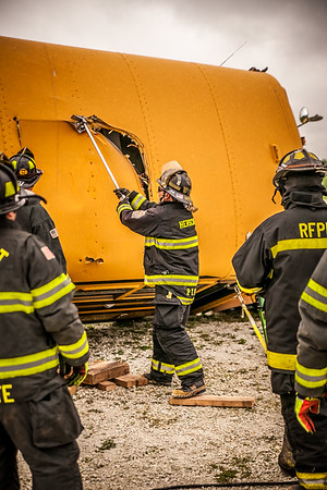 Herscher Bus Extrication Training with HURST