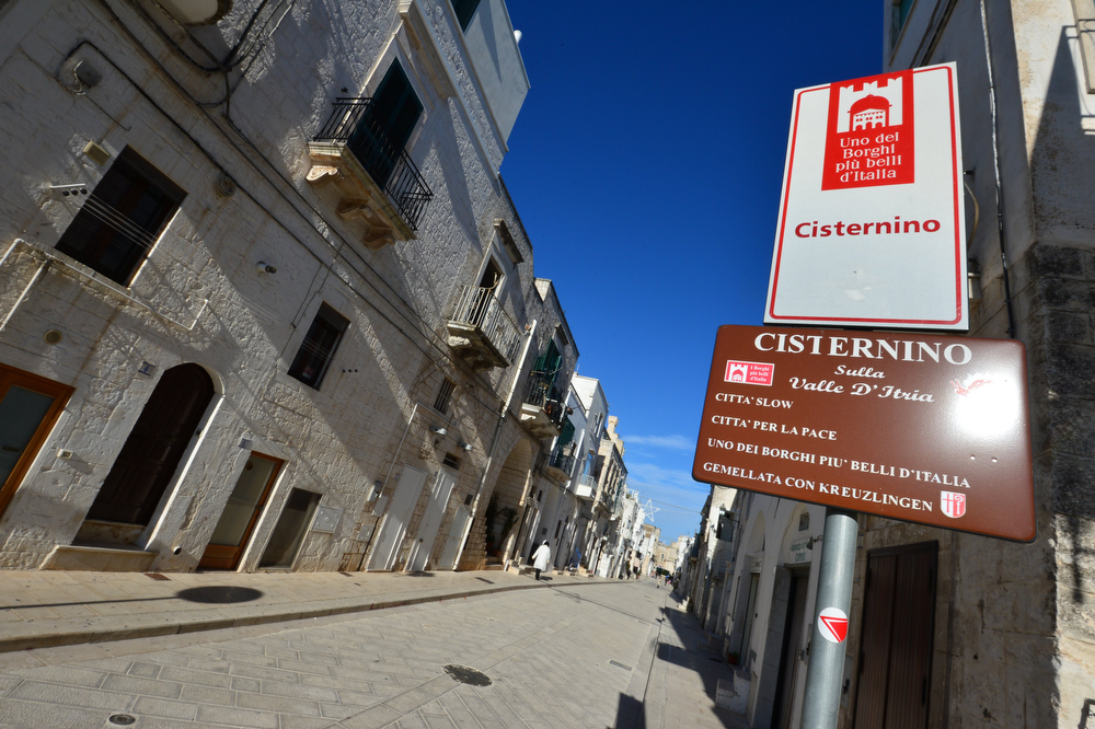 Description of . This picture shows a placard of the entrance of Cisternino, in the southern Italian region of Puglia on December 10, 2012.  Cisternino is one of the few places on earth believed to be spared when the world ends, which according to the ancient Mayan calendar should take place on December 21, 2012.  GIUSEPPE CACACE/AFP/Getty Images