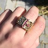 .38ctw Antique Diamond and Ruby Buckle Ring 17