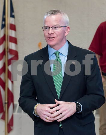 03/15/18 Wesley Bunnell   Staff Candidate for Governor Sean Connolly speaks at the Pulaski Club on Thursday evening as he along with other Democratic candidates for state office met with the Democratic Town Committee as well as New Britain residents.