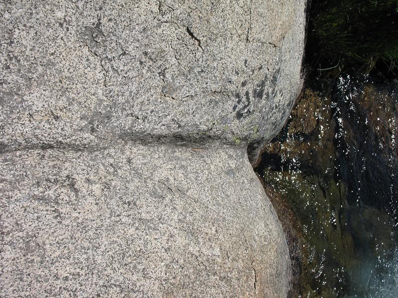 Water-sculpted rock.