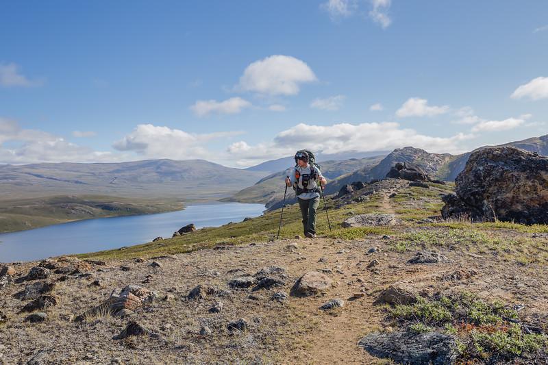 David Stock hiking in Greenland