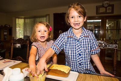 Hans Huysmans - Erin & Bridget icing Papas Birthday cake