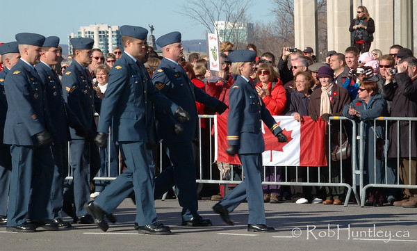 Parade leaving the 2009 Remembrance Day Ceremony in Ottawa, Ontario. © Rob Huntley