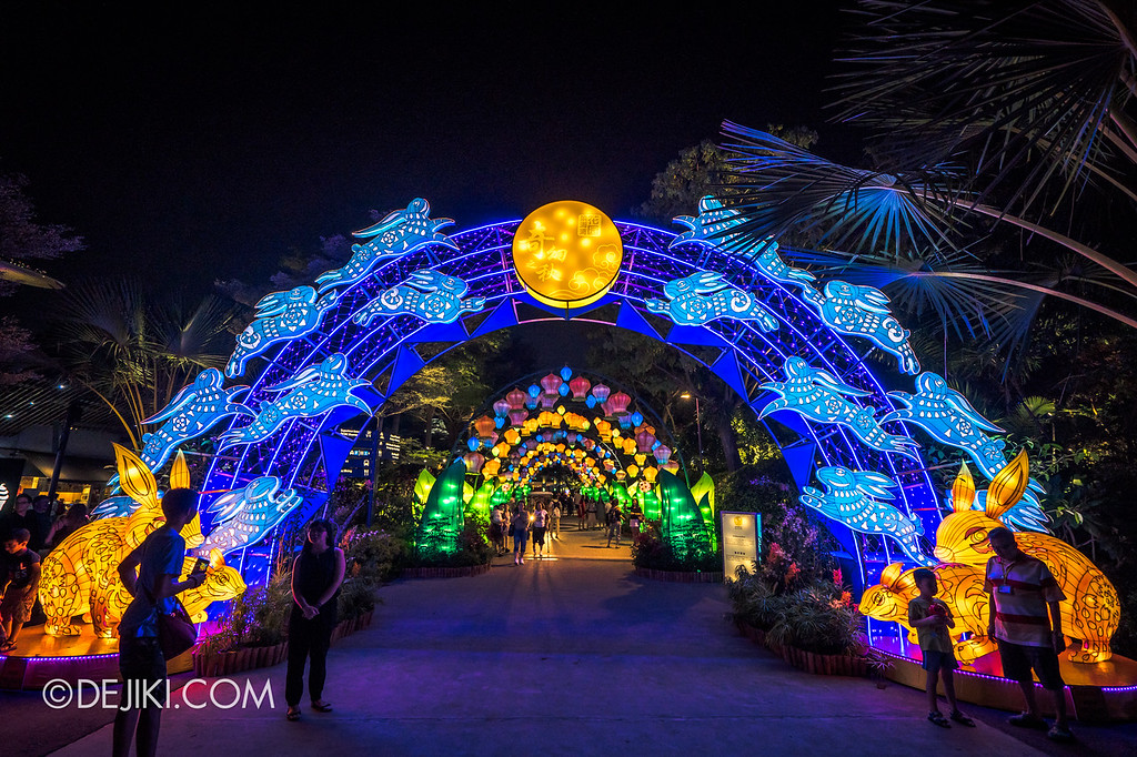 Mid-Autumn at Gardens by the Bay - Giant Lantern Display / Rabbit Lantern Arch