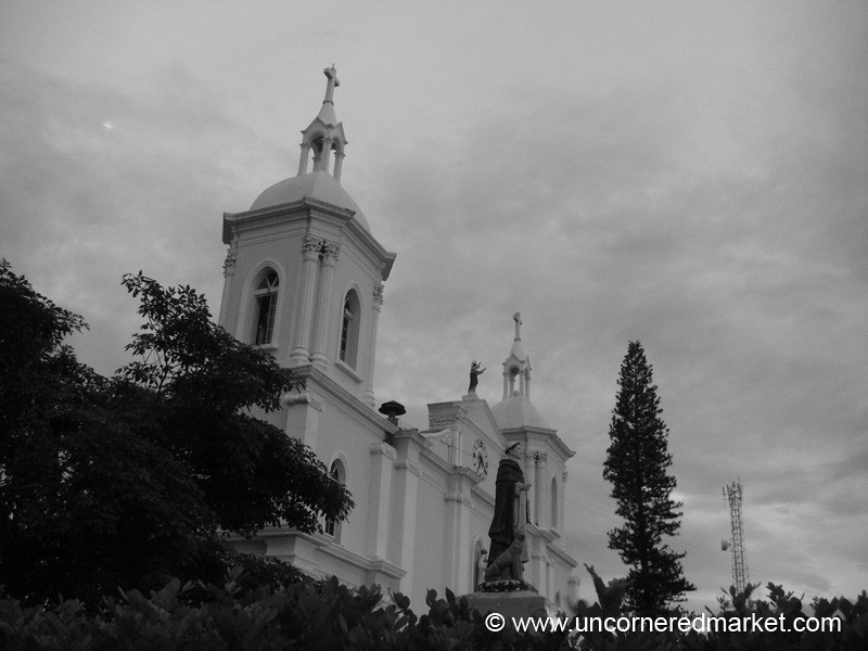 Esteli Cathedral in Black and White.