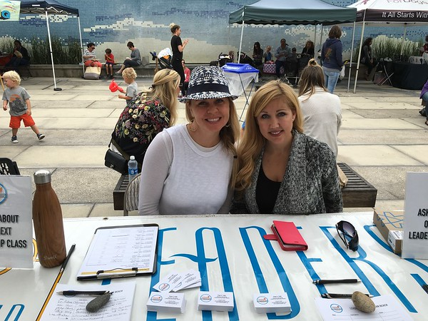 Misty & Cindy Working the LMB Recruiting Table Farmers Market