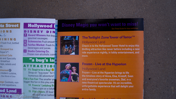 Disneyland Resort, Disney California Adventure, Halloween, Twilight Zone, Tower of Terror, Guide Map