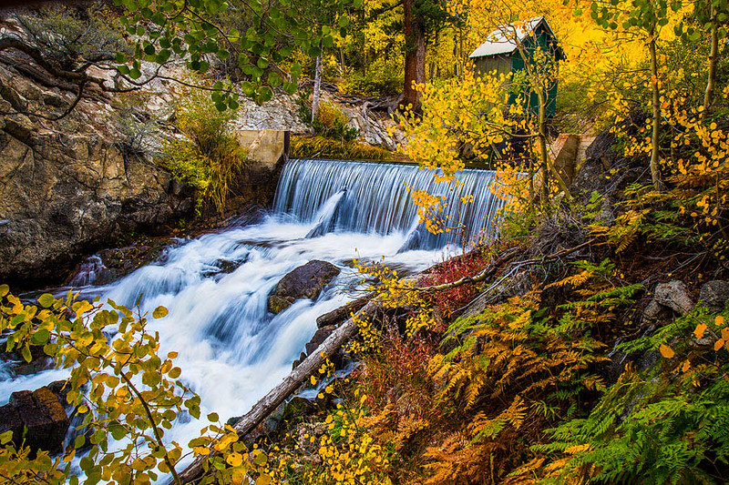 Bishop Creek Waterfall Autumn Shack b.jpg