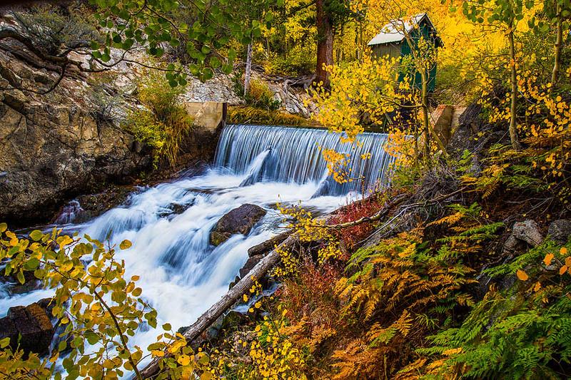 Bishop Creek Waterfall Autumn Shack b.jpg