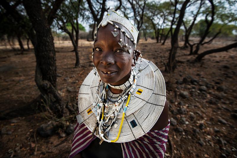Portrait of a Masai woman  Tanzania, 2019
