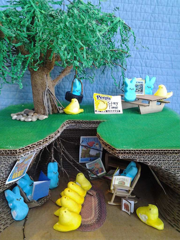 """. \""""Story Time at Peepy Hollow,\"""" by Lisa Lassen"""