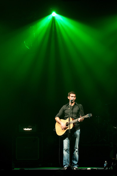 Aaron Shust performs on October 11, 2010 at Harborside Church in Safety Harbor, Florida