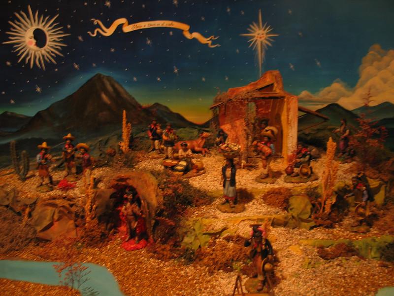 Farm Worker Nativity Scene