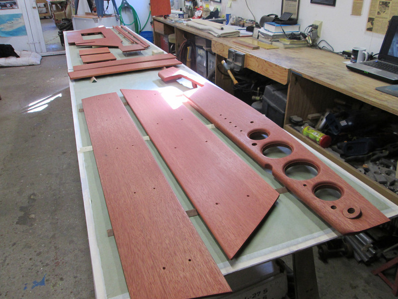 Interior parts stained.