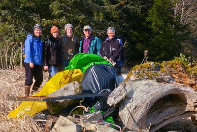 Some of the Cleanup Volunteers April 2013, Cynthia Meyer, Chichagof Island, Alaska