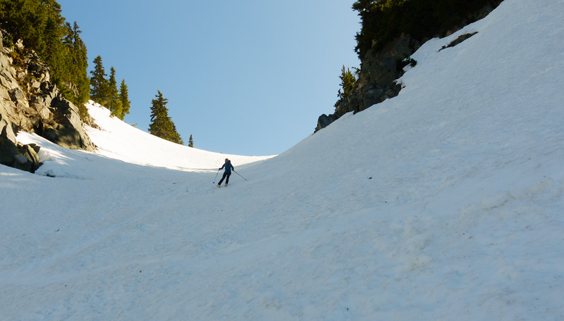 Diana coming down the gulley.