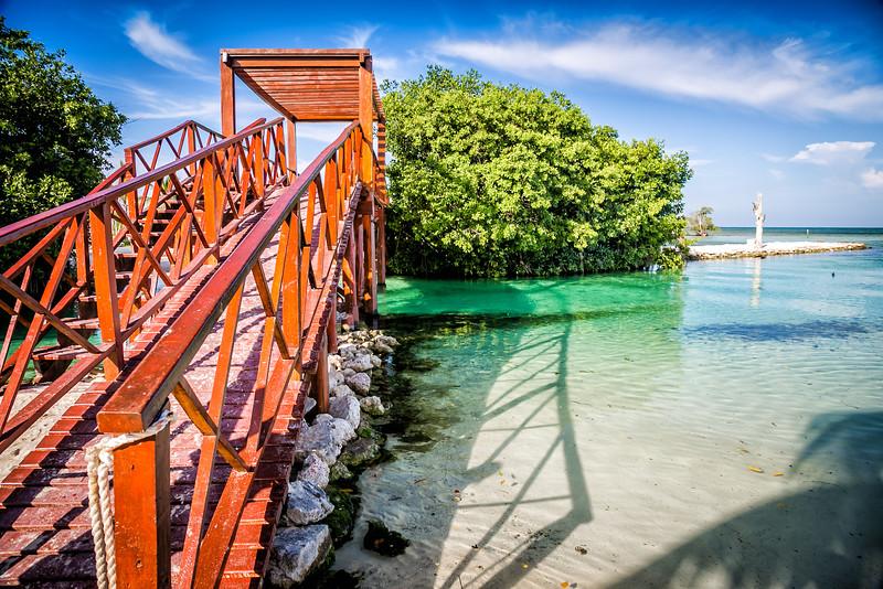 Bridge in Cancun, Mexico