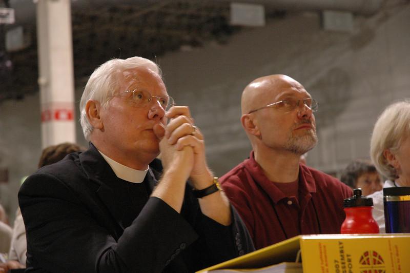 Retiring Bishop Paul Landahl, Metro Chicago Synod and The Rev. Wayne Miller, Bishop-elect for Metro Chicago Synod
