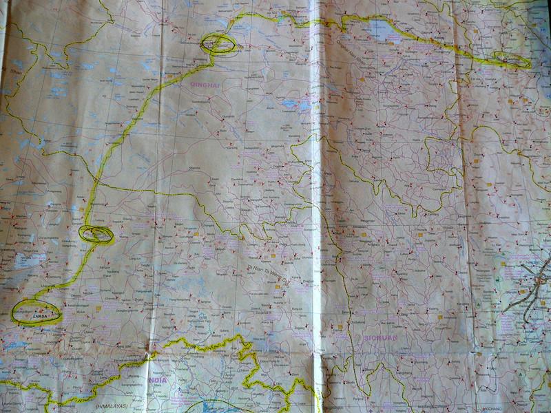Route via Lanzhou > Golmud (Geermu) > Magqu > Lhasa Qinghai -Beijing to Tibet Railway, Beijing to Lhasa  Oct  2006