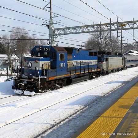 Milford (CT) ~ Disabled Amtrak Train ~ 19 Feb 2014