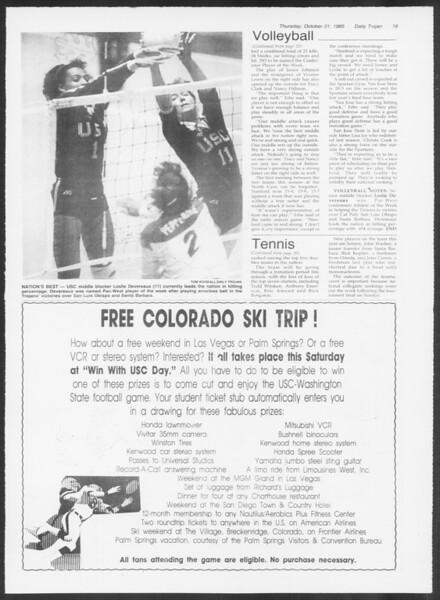 Daily Trojan, Vol. 100, No. 43, October 31, 1985