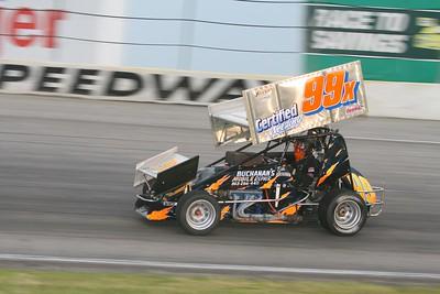 MSA Super Modifieds and Buckeye Super Sprints, Toledo Speedway, Toledo, OH, August 7, 2009