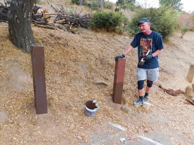 Dawn Mine 100317 100 Bob painting wood posts .JPG