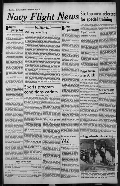 Daily Trojan, Vol. 34, No. 116, March 31, 1943