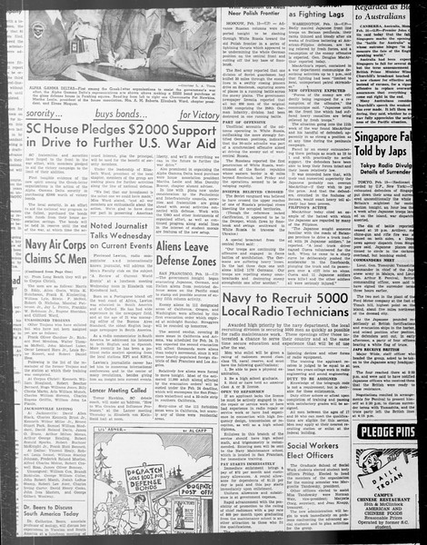 Daily Trojan, Vol. 33, No. 73, December 29, 1941