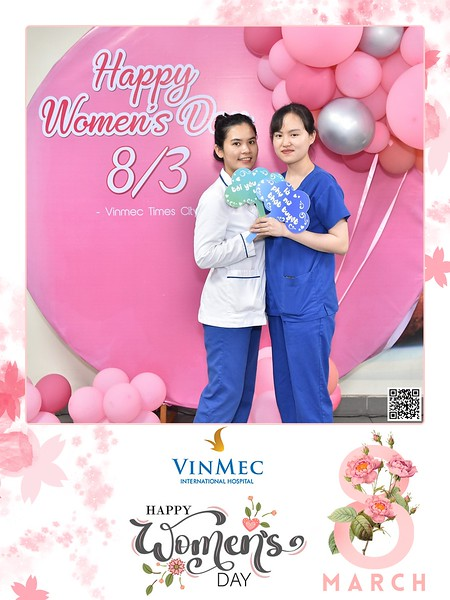 Vinmec   Women's Day instant print photo booth   Chụp ảnh in hình lấy ngay Quốc tế Phụ Nữ 8/3   Photobooth Hanoi