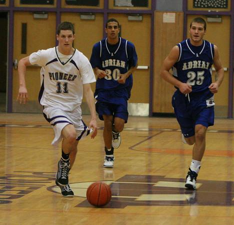 Adrian at Pioneer basketball 2009