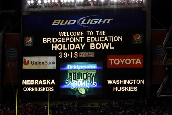 Holiday Bowl 2010 Nebraska vs Washington