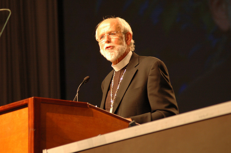 Presiding Bishop Mark S. Hanson at plenary session one.