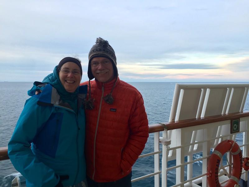 On board Holand America Oosterdam